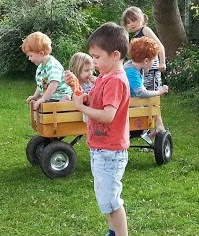Trucks are  essentials for children at festivals