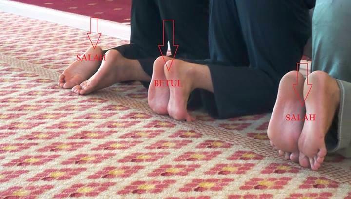 kaki ketika sujud