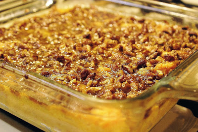 Pecan orange sweet potato casserole