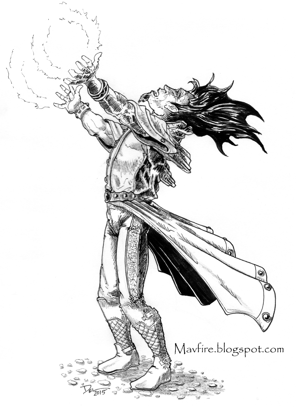 Lenard's Long Coat Mage by Del Teigeler, Mavfire 2015