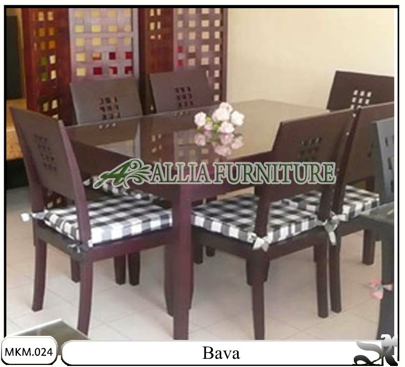 Meja makan minimalis set model Bava