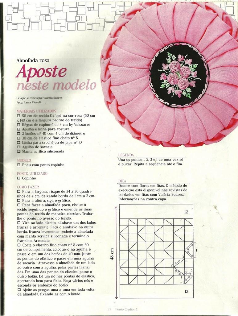 Схемы для декоративных подушек с буфами