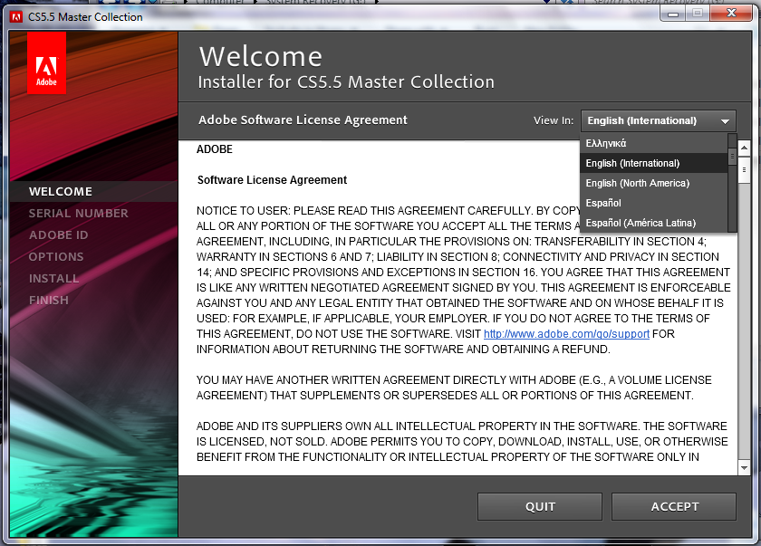 Adobe CS5.5 Master Collection (Window x32 x64)[Full][กุญแจ]