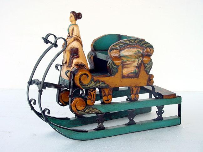Figuras tem ticas decoraci n de navidad r plicas de trineos for Trineo madera decoracion