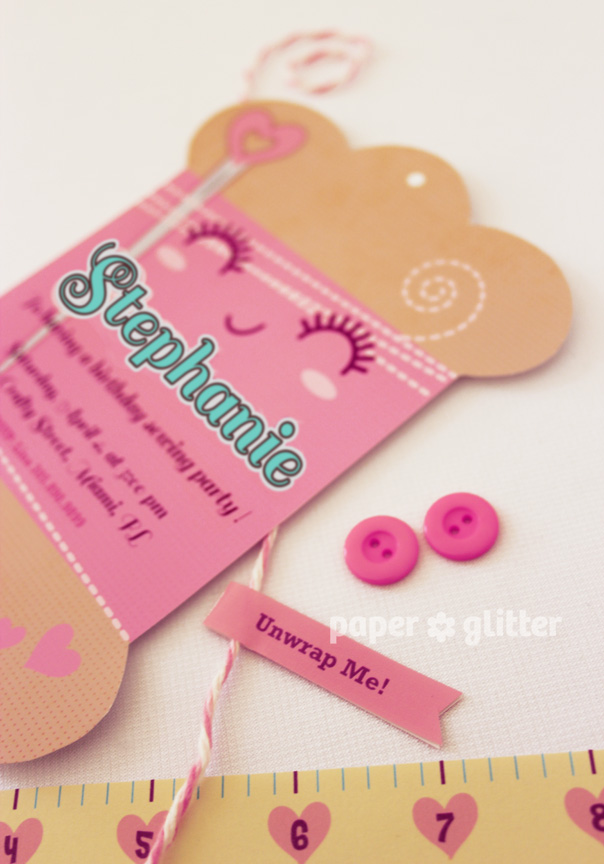 NEW to the shop! Sewing / Craft Printable Invitation Card!