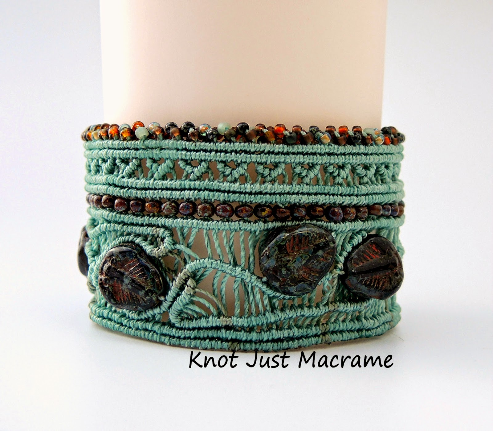 Micro macrame cuff bracelet by Knot Just Macrame