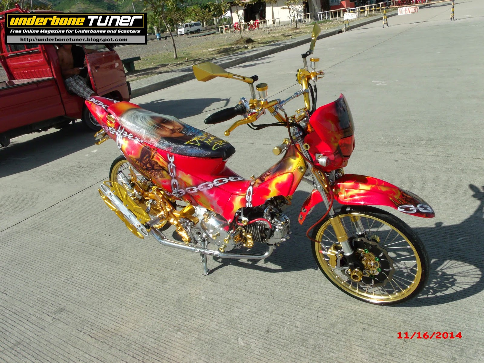 underbone tuner  Modified Honda XRM125   Demon Hunter Theme DMC