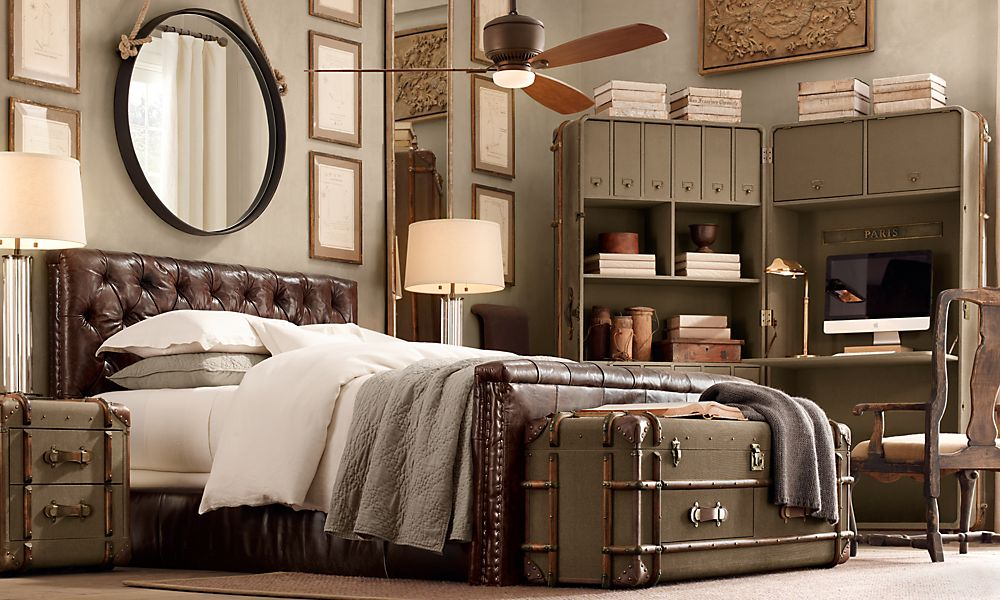 Cool Restoration Hardware Bedroom : ... the modern man, man cave. How cool is that Polished-Nickel TV Easel