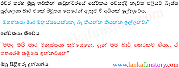Sinhala Fun Stories-Inebriate-Part One