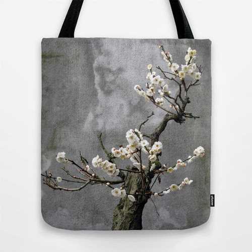 tote bag blooming bonsai