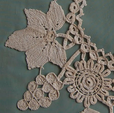 Crafty Jewelry Grape And Leaf Motif Collar Free Crochet Patterns