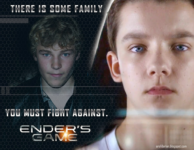 Peter and Ender Wiggin in  a poster by Darian Robbins artofdarian.blogspot.com