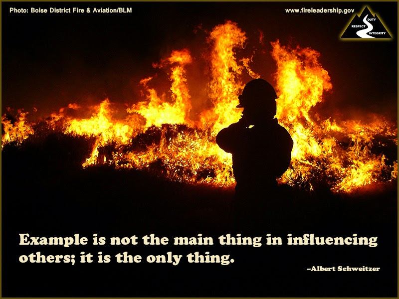 Example is not the main thing in influencing others; it is the only thing. ~ Albert Schweitzer