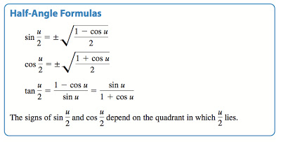 precalculus multiple angle formulas. Black Bedroom Furniture Sets. Home Design Ideas