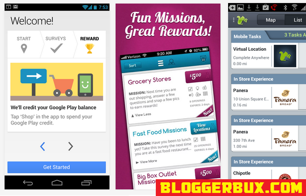 BloggerBux 50 ways to make money while playing games in iOS and Android
