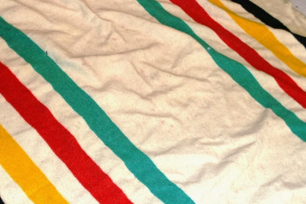 vintage diana vintage hudson bay wool blanket. Black Bedroom Furniture Sets. Home Design Ideas