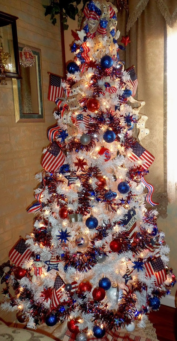 My Patriotic Trees and Decor , Part 1