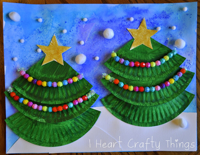 Iheartliteracy winter and christmas crafts for kids for Christmas tree arts and crafts