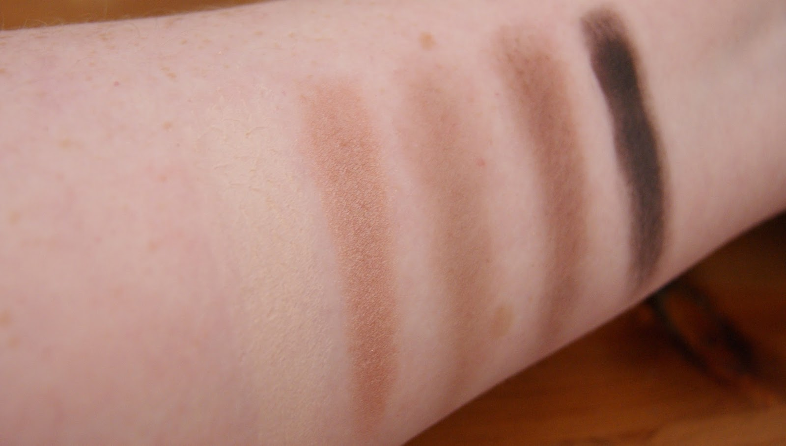 Makeup Revolution Death By Chocolate Row 1 Swatches