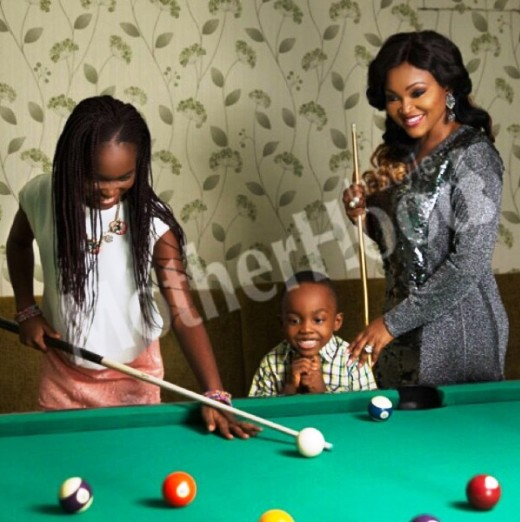 Mercy Aigbe And Her Kids On The Cover Of Motherood In-Style Magazine
