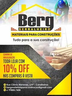 Loja Berg Serralheiro Materiais para Construção