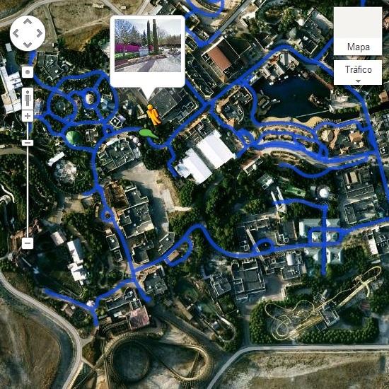 Parque Warner Madrid desde Google Maps