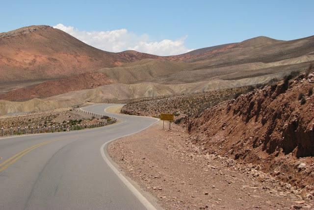 curving road desert argentina