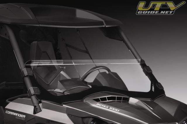 Factory installed, the heavy-duty front bumper on the Can-Am Commander 1000 ...