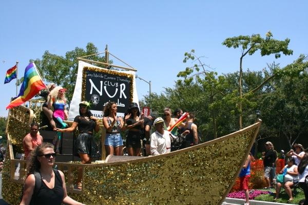 Club Nur float LA Pride Parade 2013
