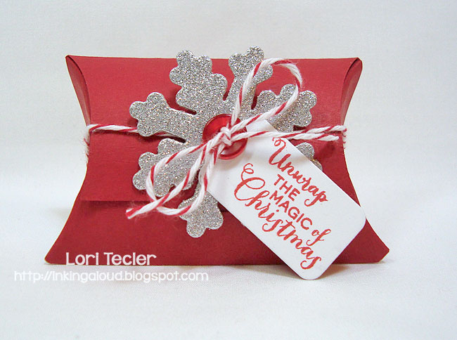 Unwrap the Magic gift box-designed by Lori Tecler/Inking Aloud-stamps and dies from Clear and Simple Stamps