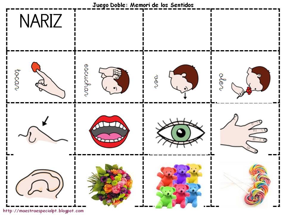 Dibujos de los cinco sentidos para colorear imagui for Mural de los 5 sentidos