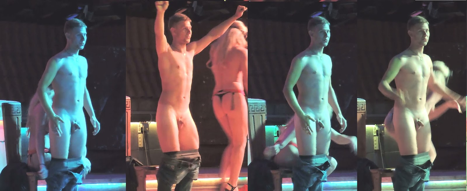 asian guys stripped naked on stage