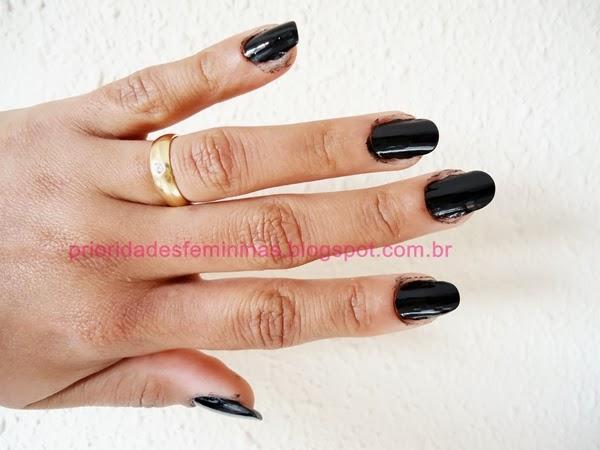 esmalte negro, nail art