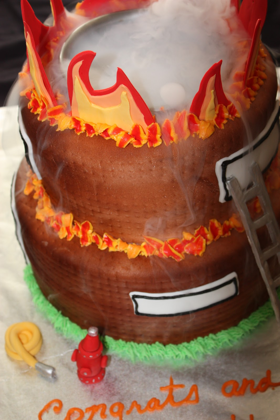 Happy Birthday Fireman Cake