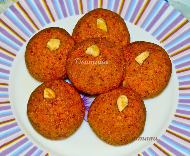 Easy rava carrot ladoo recipe