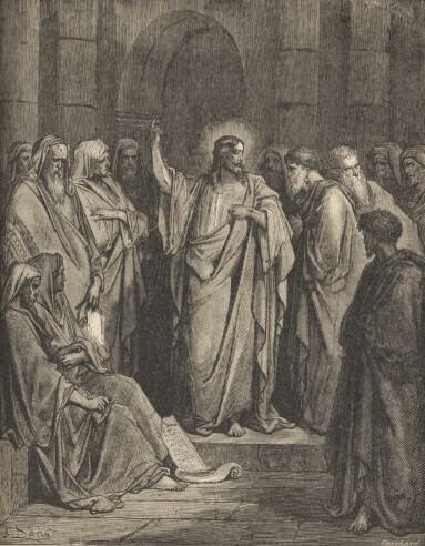 Christ in the Synagogue - Gustave Dore