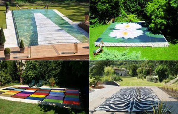 Decorative Pool Covers : Custom made pool covers by tiki concept are decorative and
