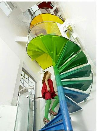 escalera colores