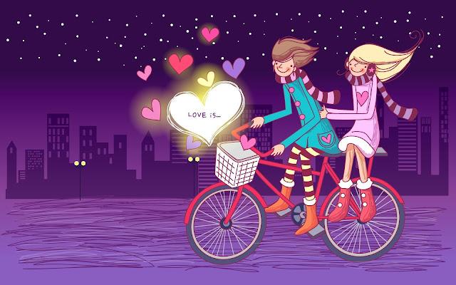 pareja en Bicicleta Imágenes de Amor - Love Images