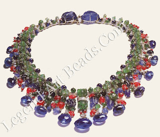 Cartier's Tutti Frutti necklace, as it appears today, after its Indian-style cord tic was replaced with a more conventional Western clasp.