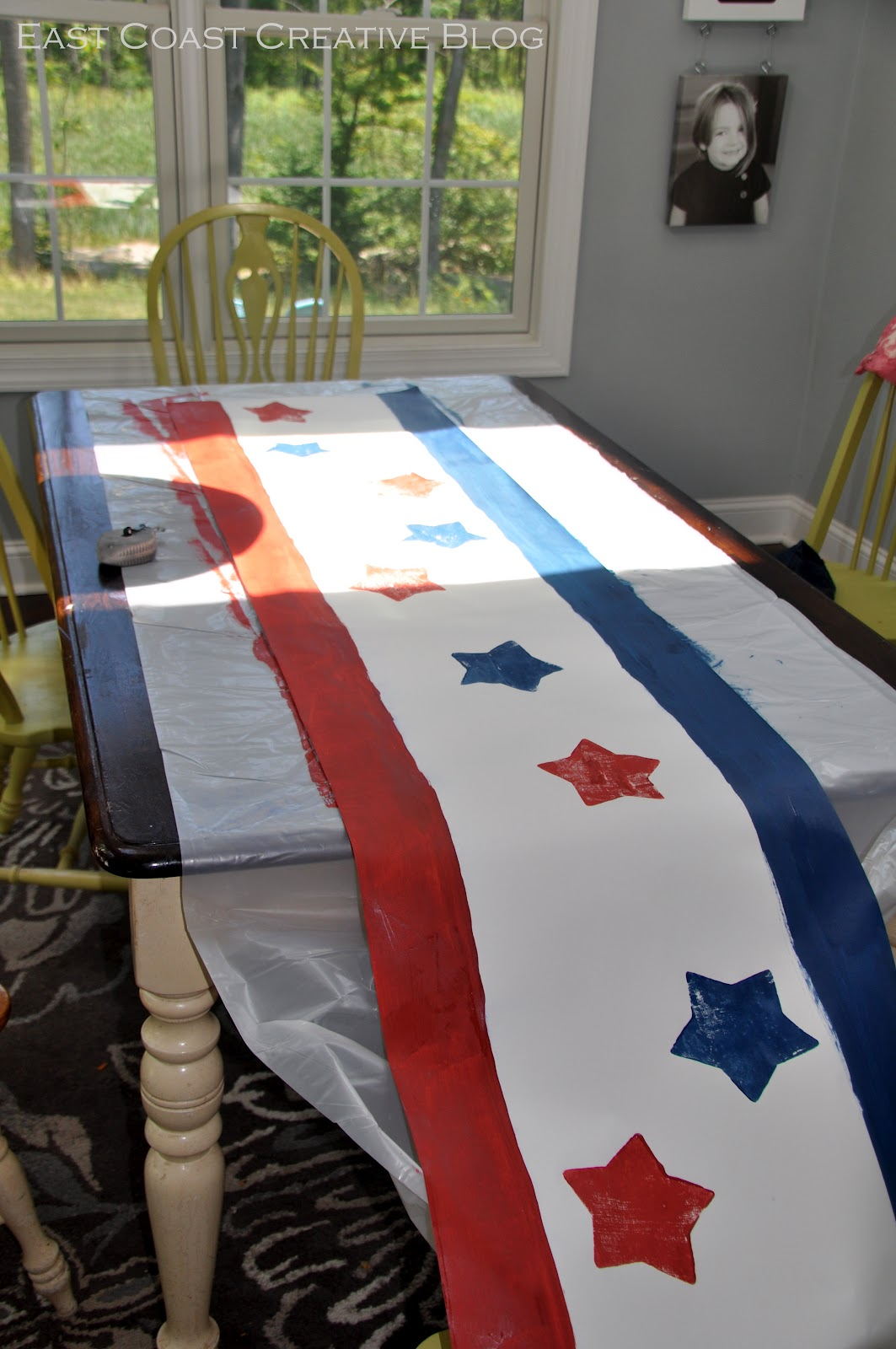 Easy diy paper table runner east coast creative for 10 minute table runner with batting