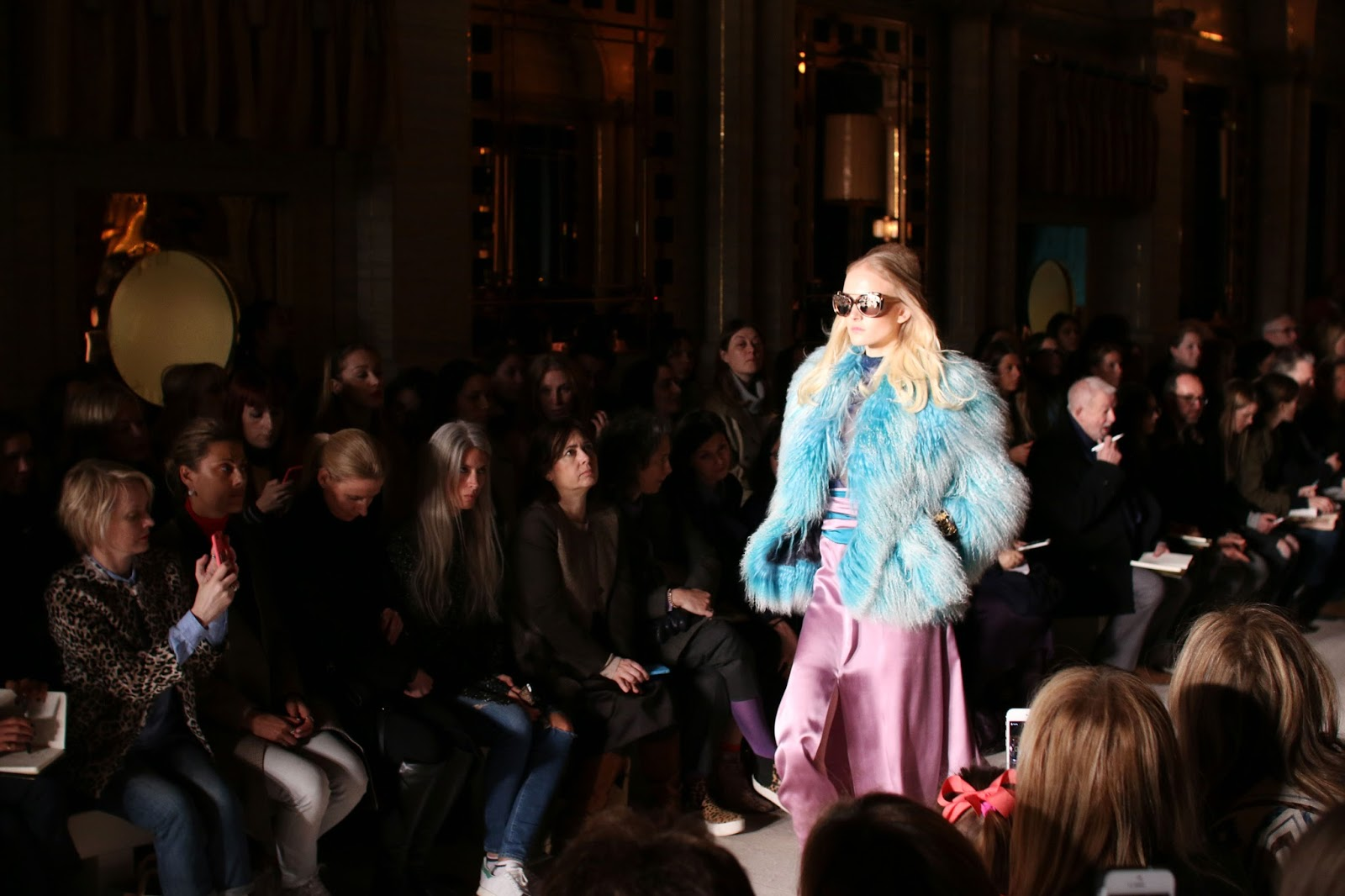 LFW AW15: Matthew Willamson, Silks and Encrusted Jewels