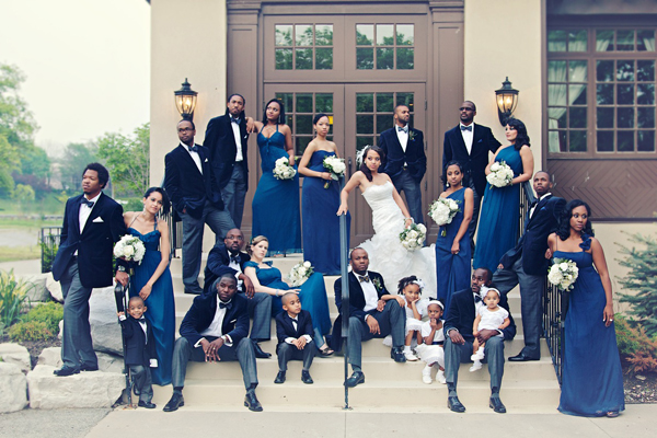royal blue wedding photos