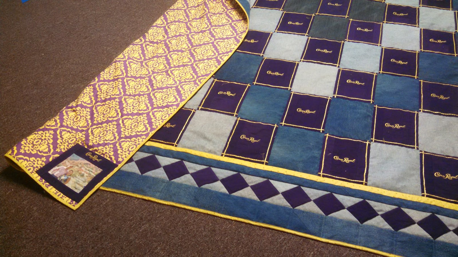 Quilting In The Bunkhouse Crown Royal Finish