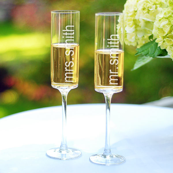 The funky monkey the favors boutique personalized - Funky champagne flutes ...