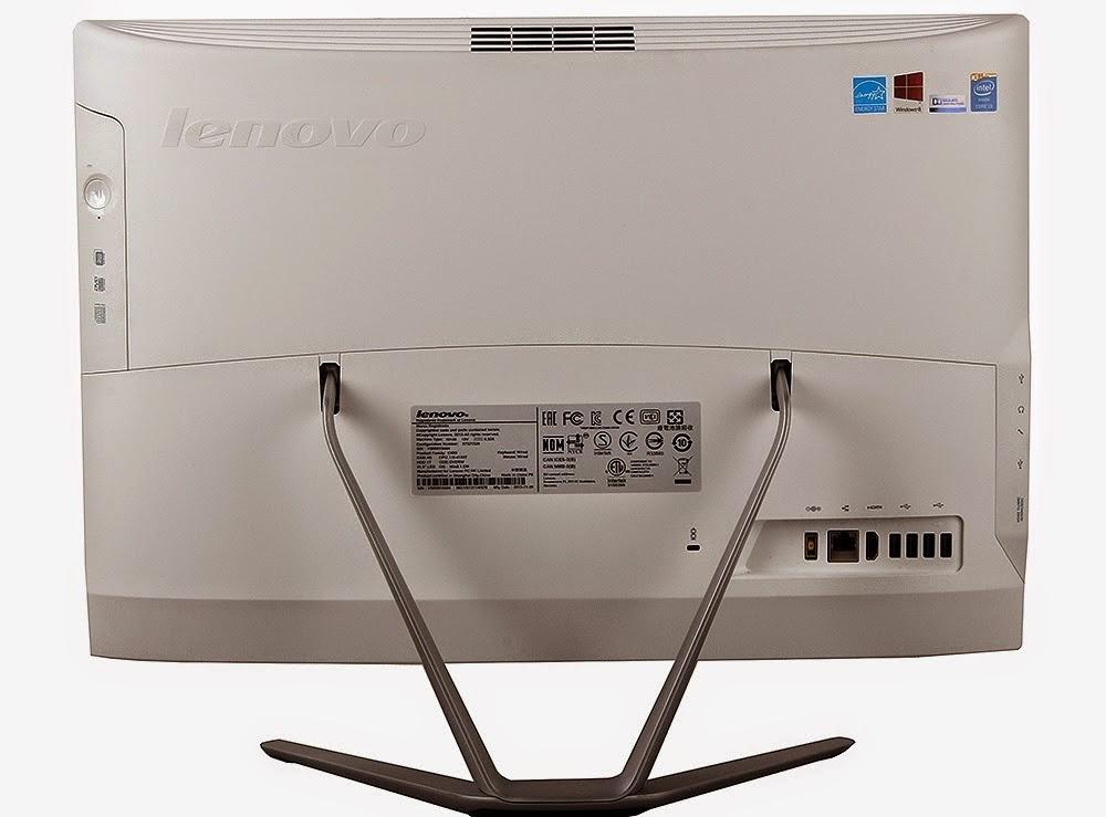 задняя сторона моноблока Lenovo IdeaCentre C460
