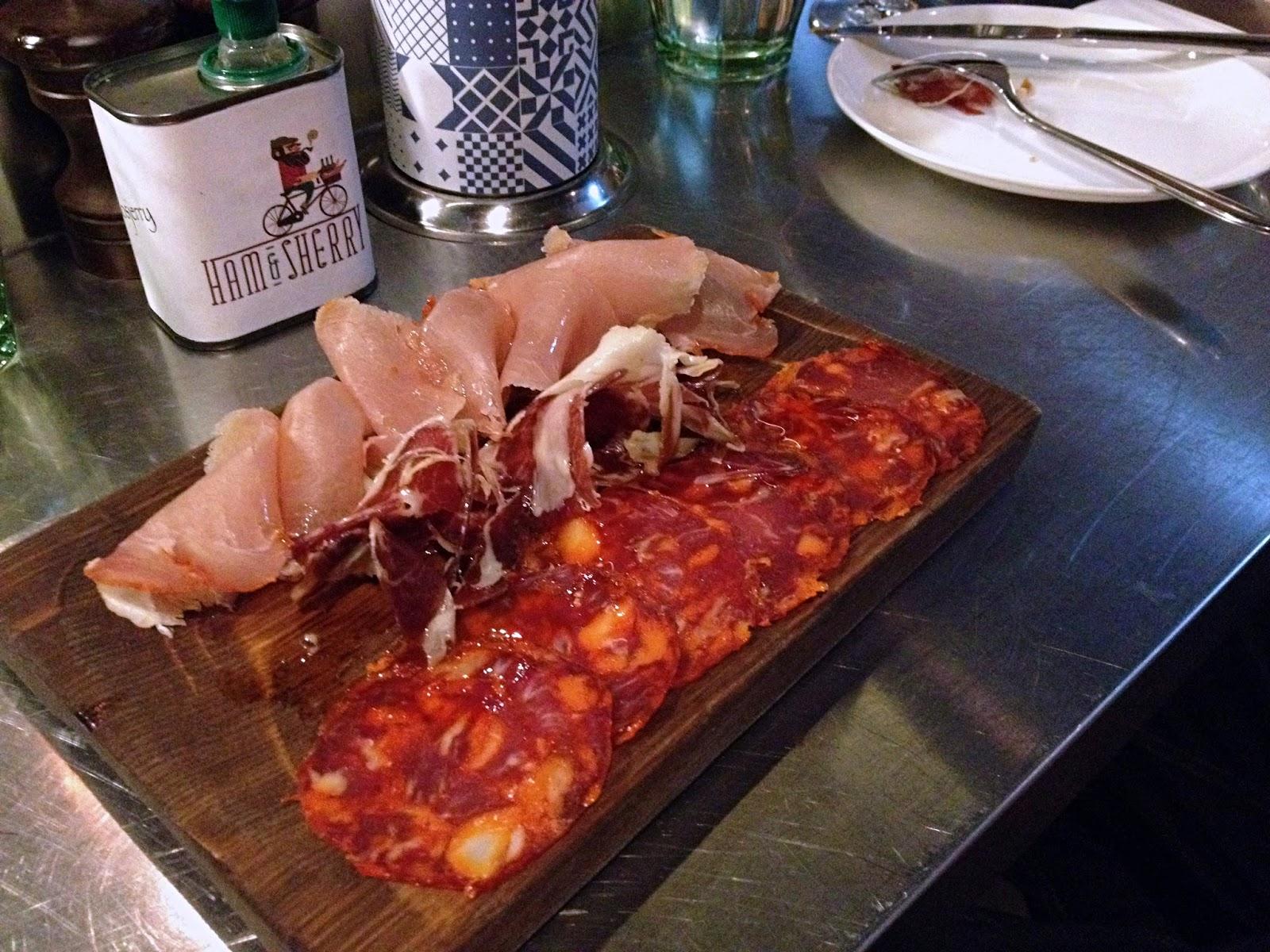 yiweilim, yi wei lim, hong kong, hong kong food, ham & sherry, 22 ships, chorizo, jamon, ham & sherry lomo