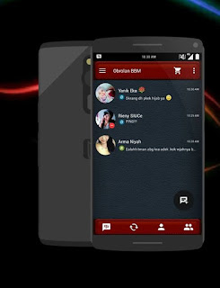 BBM Mod Dark Leather Based V2.9.0.51 Apk Original Playstore Terbaru