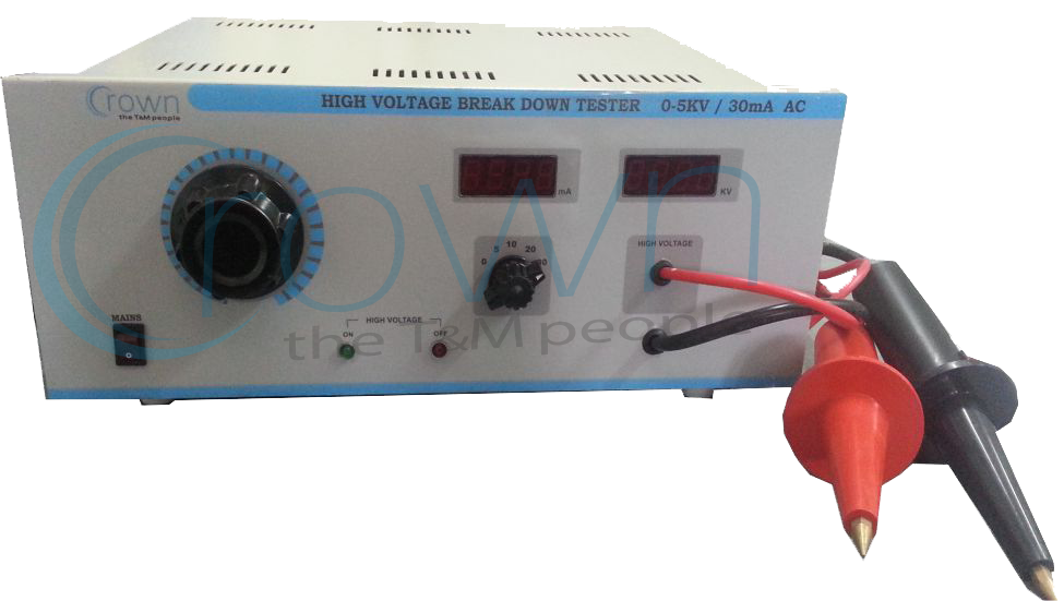 High Voltage Tester Manufacturers : High voltage breakdown tester crown electronic systems
