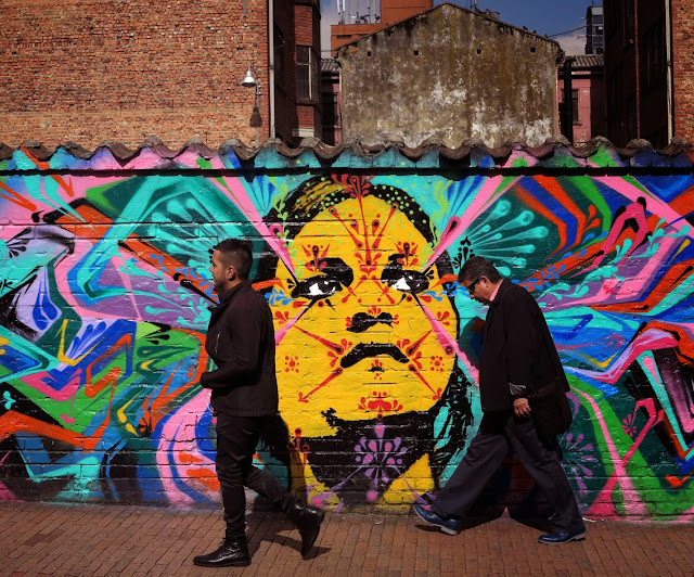 New Street Art Mural by Stinkfish and APC on the streets of Bogota, Colombia. 3